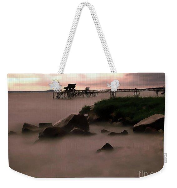Lake Balaton Painting Weekender Tote Bag