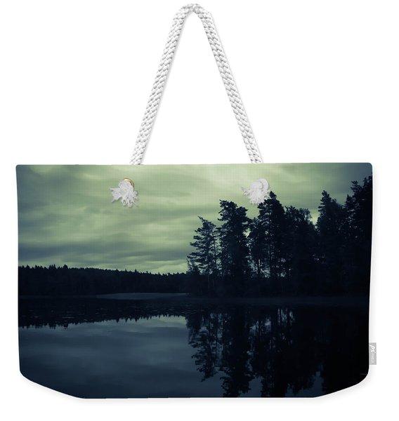Lake By Night Weekender Tote Bag