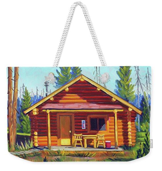 Lake Cabin Weekender Tote Bag