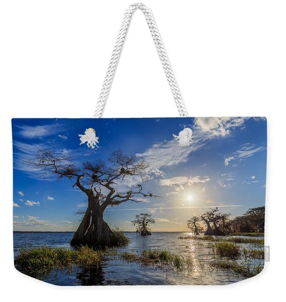 Lake Disston Cypress Paradise Weekender Tote Bag