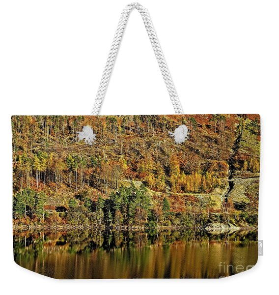 Lake District Autumn Tree Reflections Weekender Tote Bag