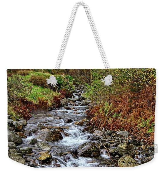 Lake District Mountain Stream Weekender Tote Bag