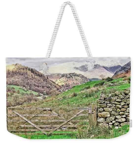 Lake District Mountains Weekender Tote Bag