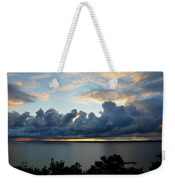Lake Effect Sky Weekender Tote Bag