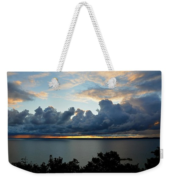 Lake Effect Sky Weekender Tote Bag