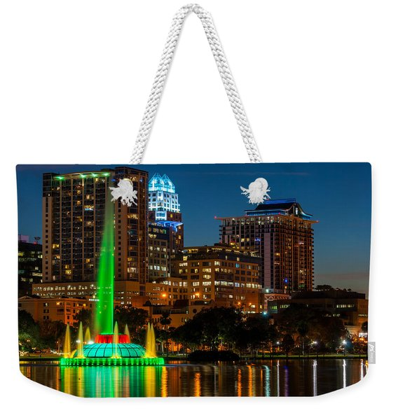 Lake Eola Fountain Weekender Tote Bag