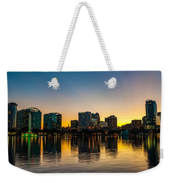 Lake Eola Sunset Weekender Tote Bag