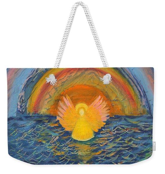 Lake Erie Tie Dye Angel Weekender Tote Bag
