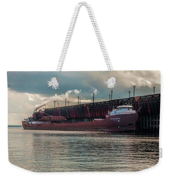 Lake Freighter - Honorable James L Oberstar Weekender Tote Bag