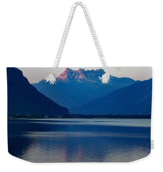 Lake Geneva, Switzerland Weekender Tote Bag