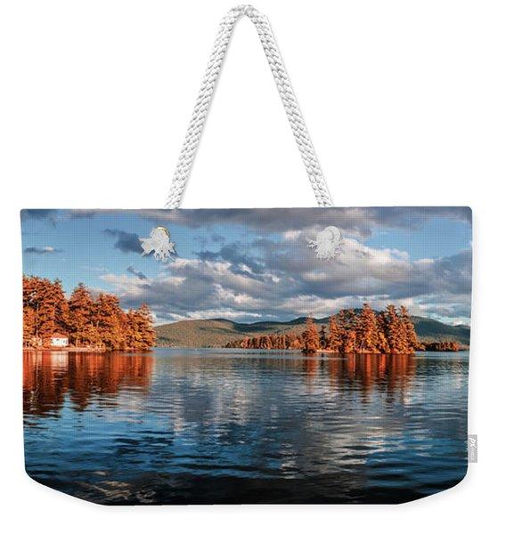 Lake George Panorama  Weekender Tote Bag