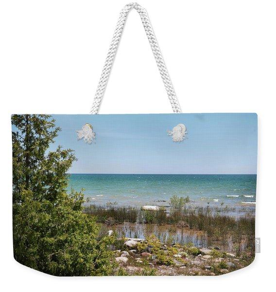 Lake Huron, Presque Isle Michigan Weekender Tote Bag