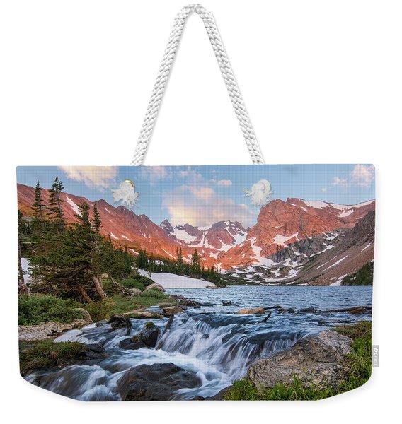 Lake Isabelle Sunrise Weekender Tote Bag