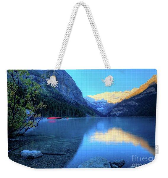 Lake Louise Autumn Bright Sunrise Banff National Park Weekender Tote Bag