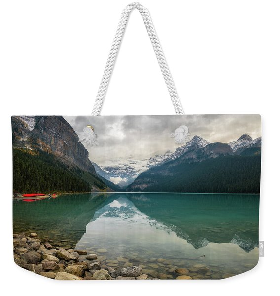 Lake Louise In The Fall Weekender Tote Bag