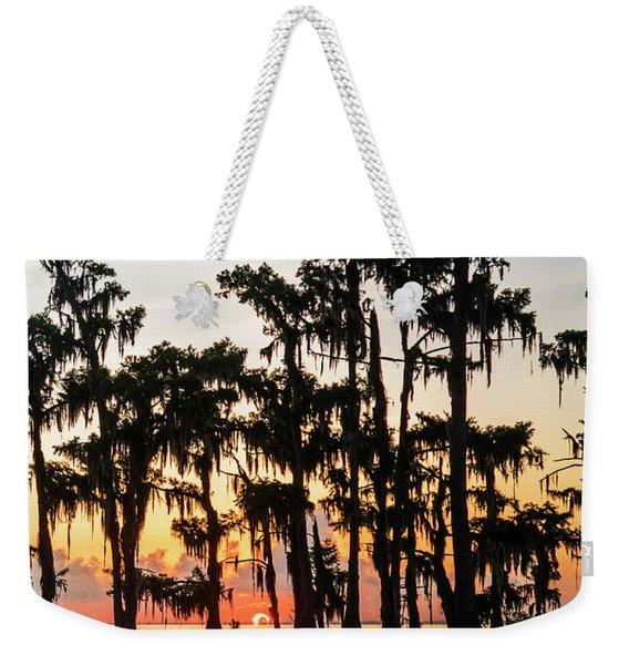 Lake Maurepas Sunrise Triptych No 1 Weekender Tote Bag