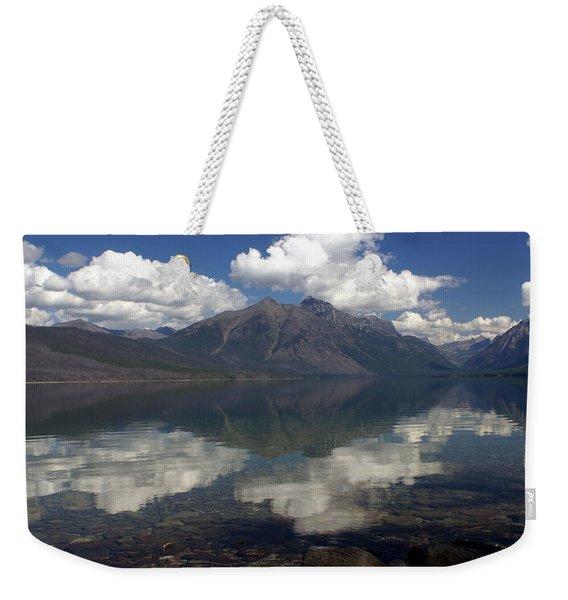 Lake Mcdonald Reflection Glacier National Park Weekender Tote Bag
