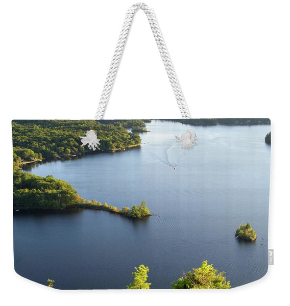 Weekender Tote Bag featuring the photograph Lake Megunticook, Camden, Maine  -43960-43962 by John Bald