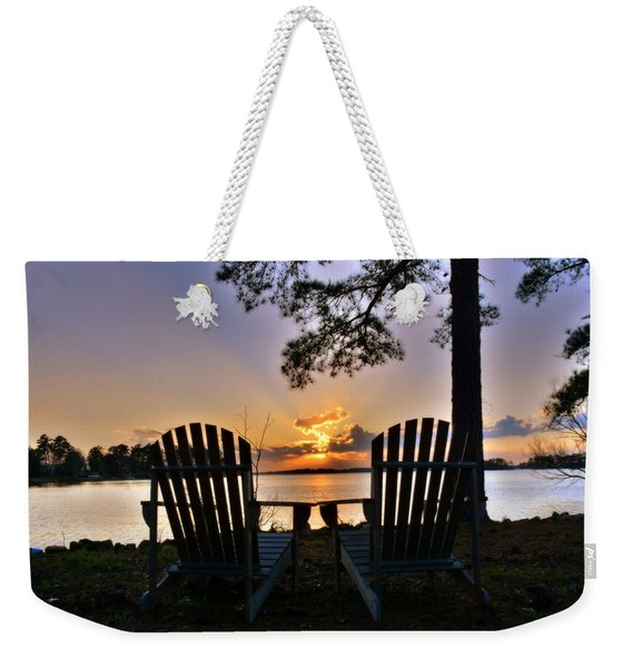 Lake Murray Relaxation Weekender Tote Bag