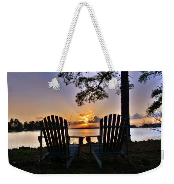 Lake Murray Relaxation Weekender Tote Bag