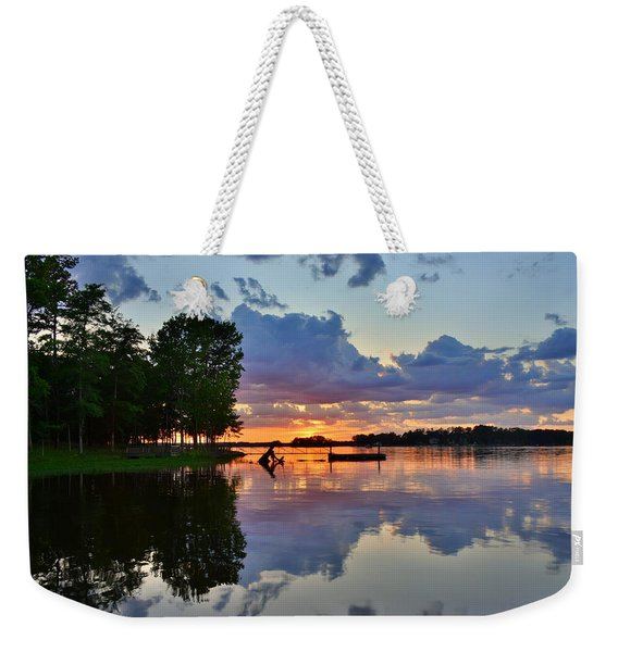 Lake Murray Sc Reflections Weekender Tote Bag