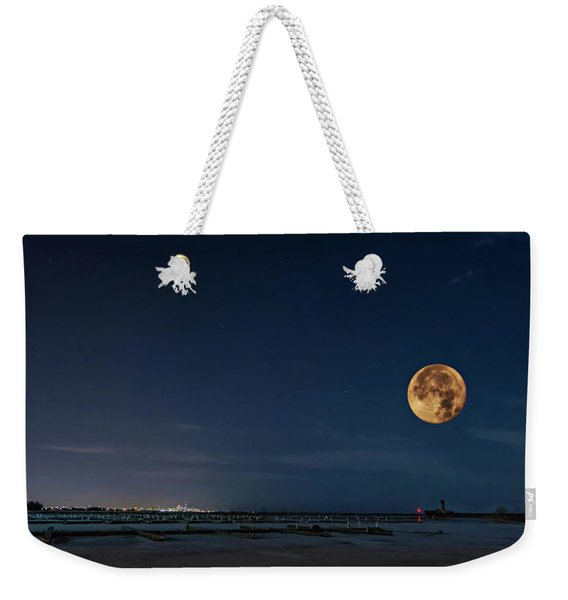 Lake Ontario Shoreline - A Winter Night 2 Weekender Tote Bag