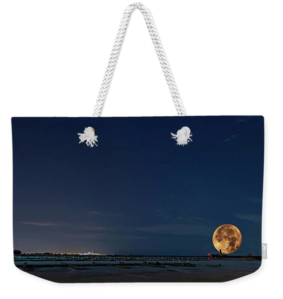 Lake Ontario Shoreline - A Winter Night 3 Weekender Tote Bag