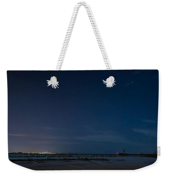 Lake Ontario Shoreline - A Winter Night Weekender Tote Bag