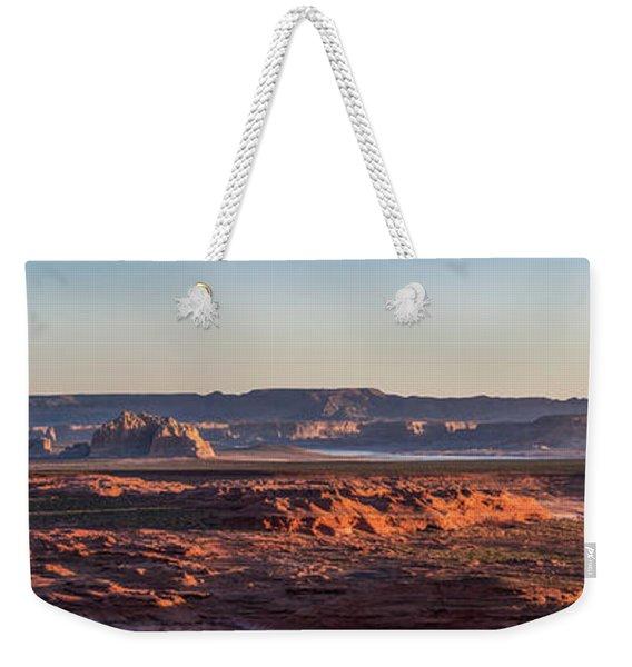 Lake Powell Sunrise Panorma Weekender Tote Bag