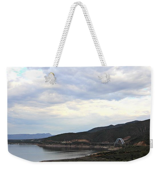 Lake Roosevelt Bridge 1 Weekender Tote Bag