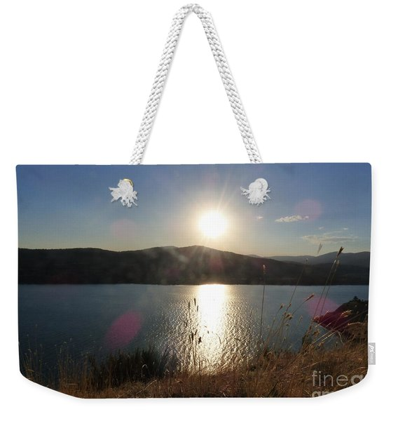 Lake Roosevelt Sun Weekender Tote Bag