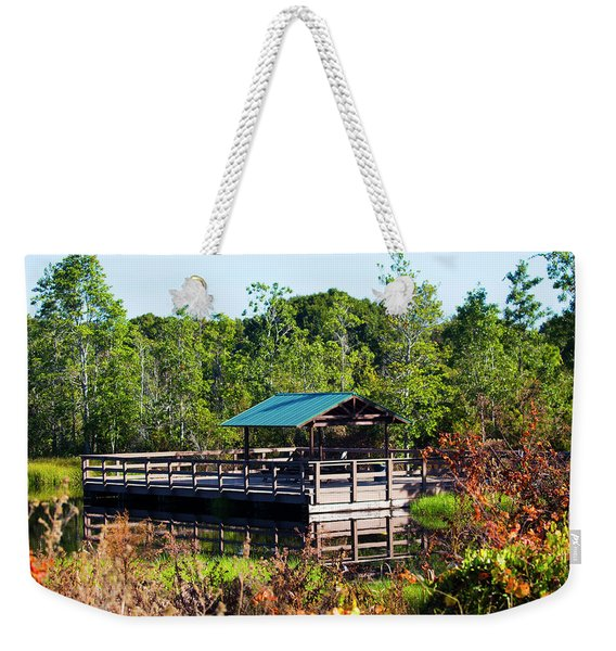 Lake Scene Weekender Tote Bag