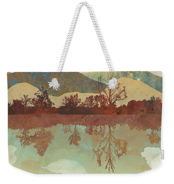 Lake Side Weekender Tote Bag