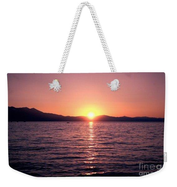 Lake Sunset 8pm Weekender Tote Bag