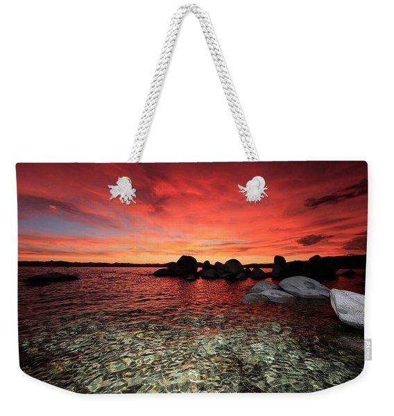 Lake Tahoe Liquid Dreams Weekender Tote Bag