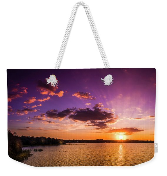 Lake Tarpon Sunset Weekender Tote Bag