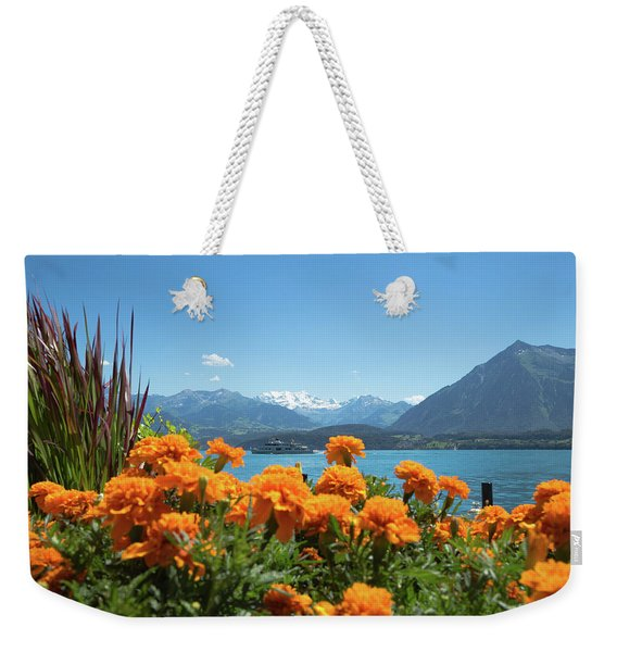 Lake Thunersee Weekender Tote Bag