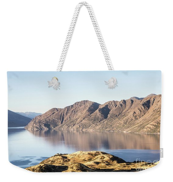 lake Wanaka in New Zealand south island Weekender Tote Bag