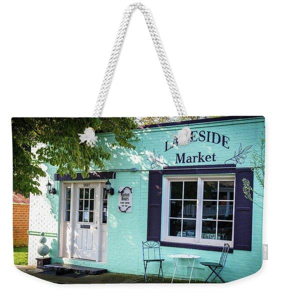 Lakeside Market Weekender Tote Bag