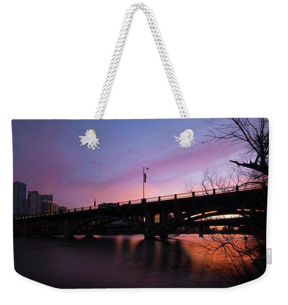 Lamar Blvd Bridge Weekender Tote Bag