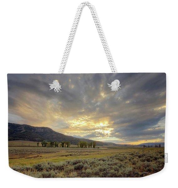 Lamar Valley Sunset Weekender Tote Bag