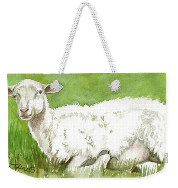 Lamb In Spring Weekender Tote Bag