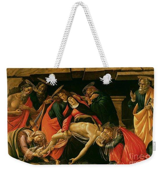 Lamentation Of Christ Weekender Tote Bag