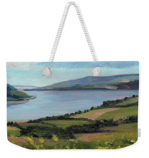 Lamlash - Facing Holy Isle Weekender Tote Bag