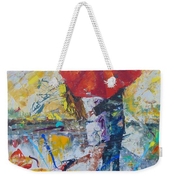 L'amour A Paris Weekender Tote Bag