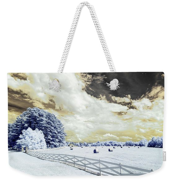 Lancaster Farm In Ir Weekender Tote Bag