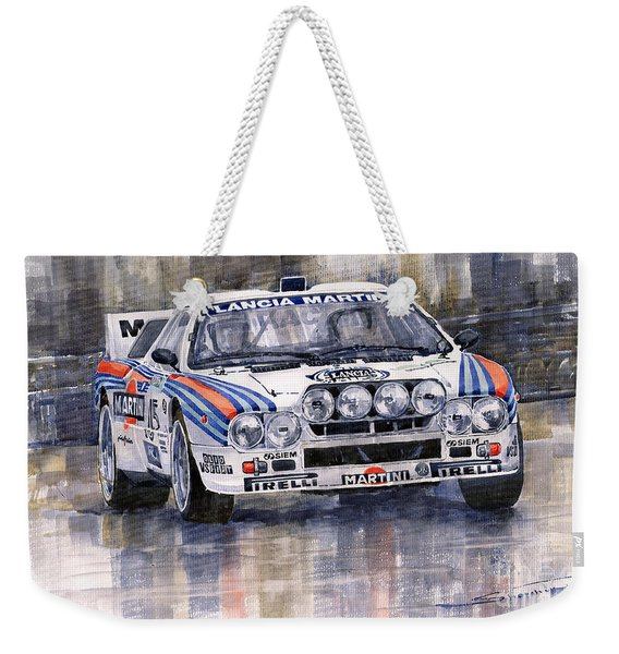 Lancia 037 Martini Rally 1983 Weekender Tote Bag