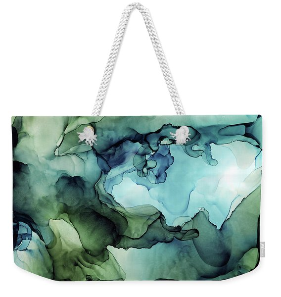 Land And Water Abstract Ink Painting Weekender Tote Bag
