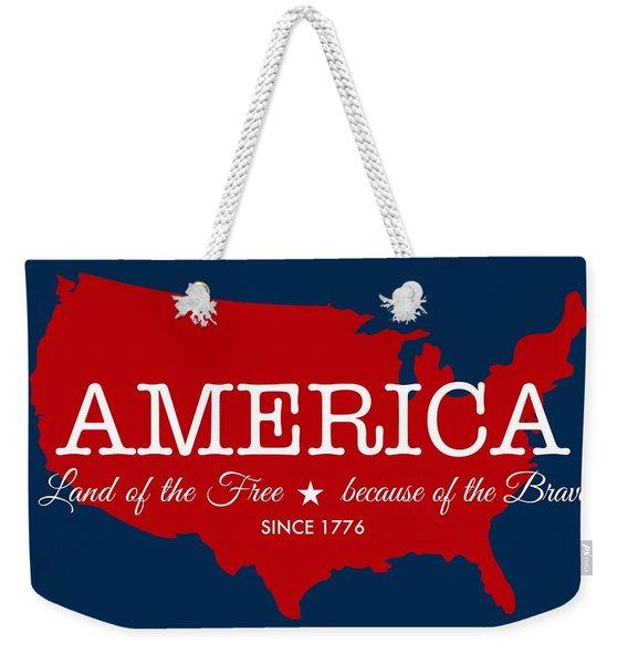 Land Of The Free Weekender Tote Bag