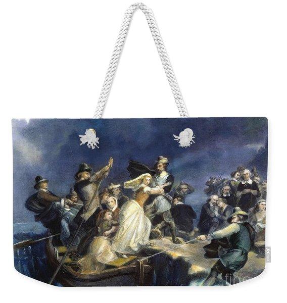 Landing Of The Pilgrims Weekender Tote Bag
